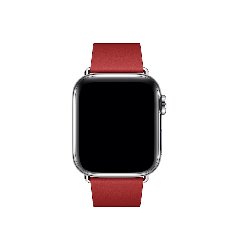 Bracelete para Apple Watch em pele e fivela moderna (40/38 mm) grande - (PRODUCT) RED