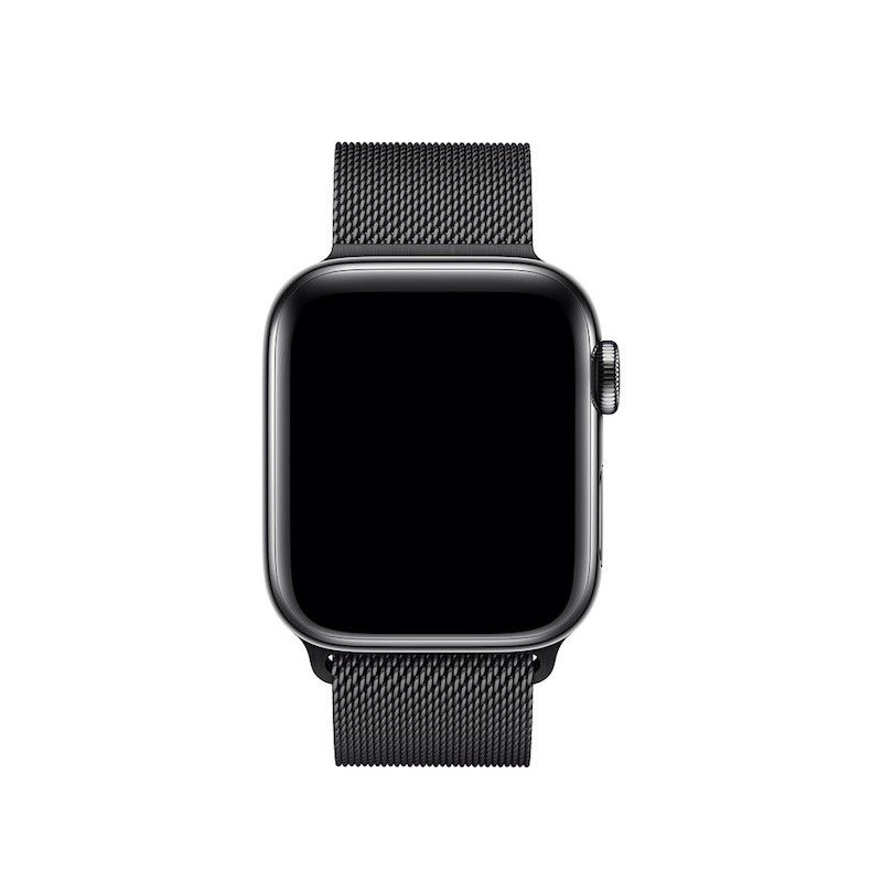 Bracelete para Apple Watch Milanesa em metal (40/38 mm) - Preto Sideral