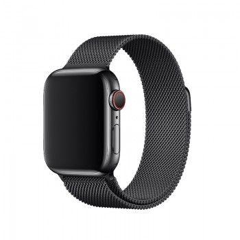 Bracelete para Apple Watch Milanesa em metal (40/38 mm) - Preto Sideral