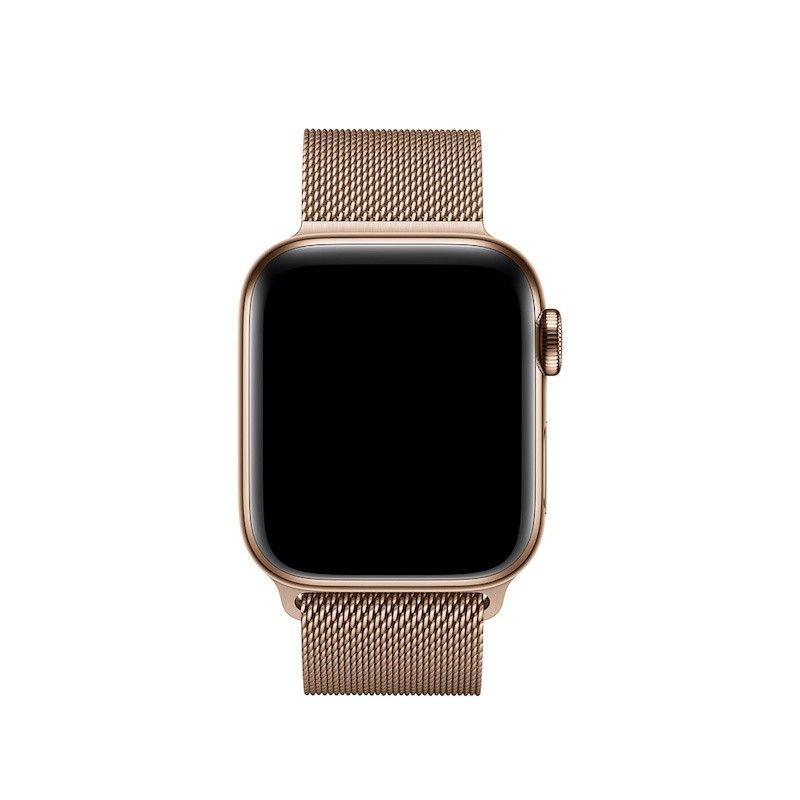 Bracelete para Apple Watch Milanesa em metal (40/38 mm) - Dourado