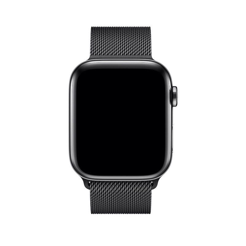 Bracelete para Apple Watch Milanesa em metal (44/42 mm) - Preto Sideral