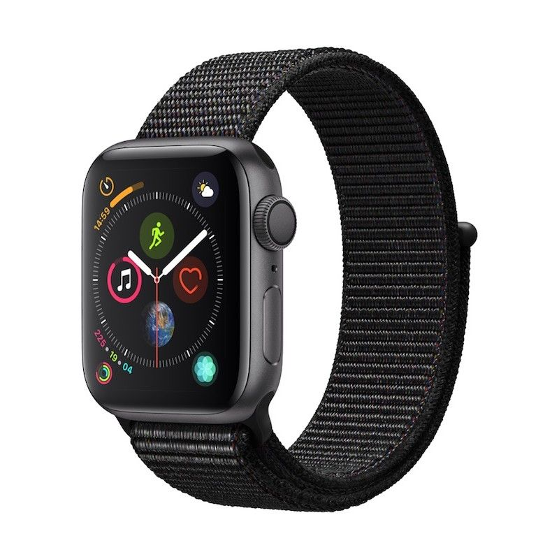 Apple Watch 4 GPS, 40 mm - Cinzento Sideral com bracelete desportiva Loop