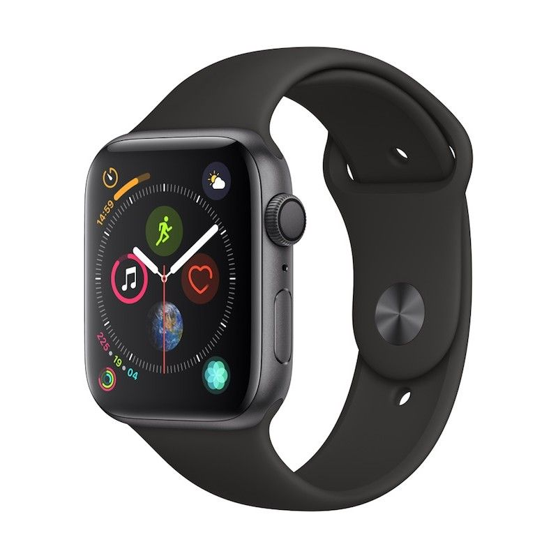 Apple Watch 4 GPS, 44 mm - Cinzento Sideral com bracelete desportiva