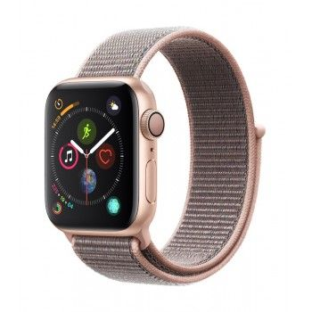 Apple Watch 4 GPS, 40 mm - Dourado com bracelete desportiva Loop