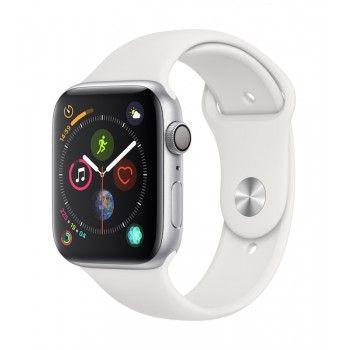 Apple Watch 4 GPS, 44 mm - Prateado com bracelete desportiva