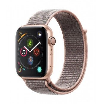 Apple Watch 4 GPS, 44 mm - Dourado com bracelete desportiva Loop