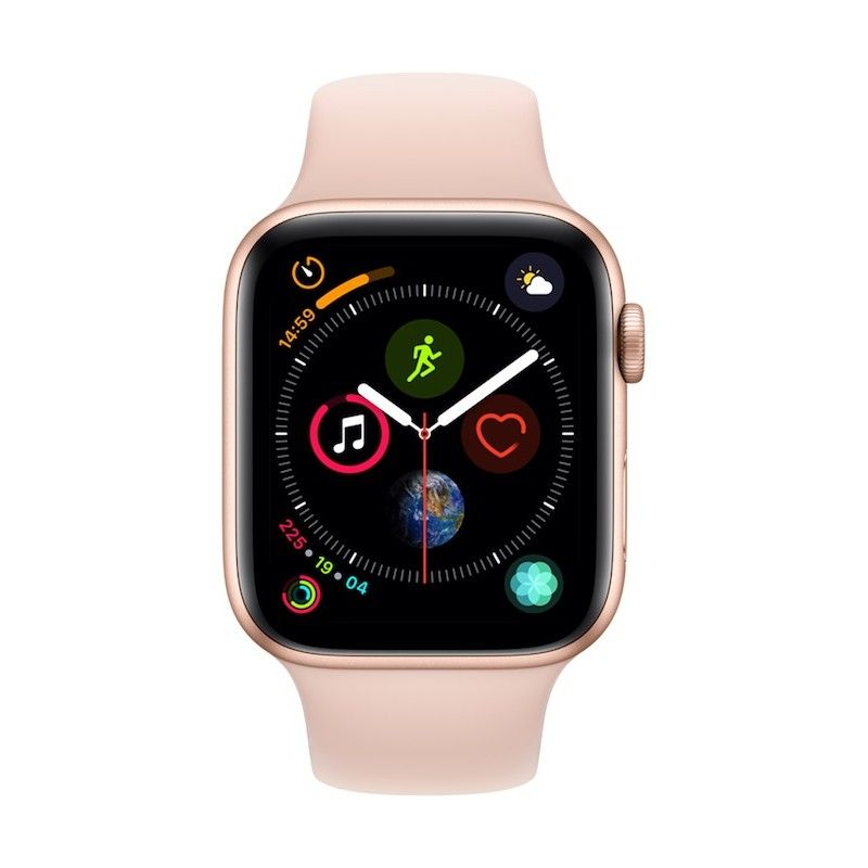 Apple Watch 4 GPS, 44 mm - Dourado com bracelete desportiva