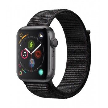 Apple Watch 4 GPS, 44 mm - Cinzento Sideral, bracelete desportiva Loop