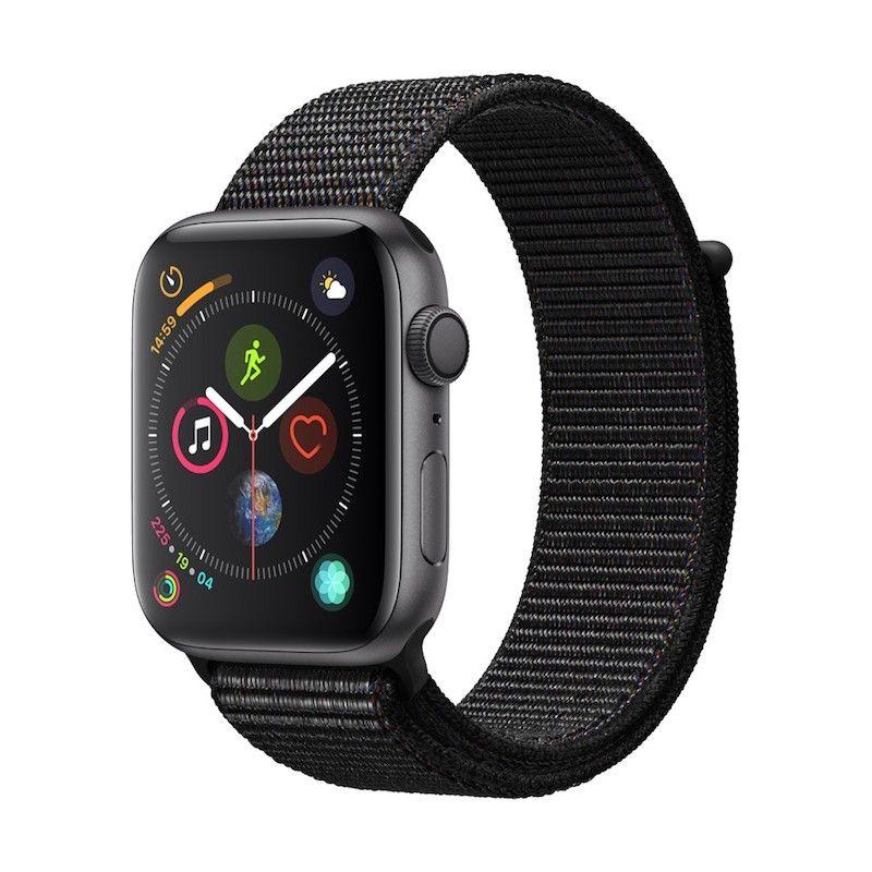 Apple Watch 4 GPS, 44 mm - Cinzento Sideral com bracelete desportiva Loop