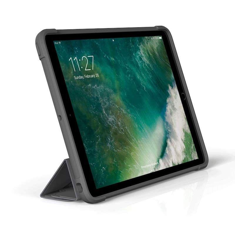 Capa Pipetto Origami Shield iPad 9,7 (2017/8/Air 1) - Cinzento