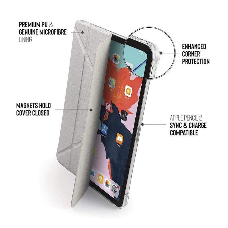 Capa para iPad Pro 11 Pipetto Origami - Prateado/Transparente