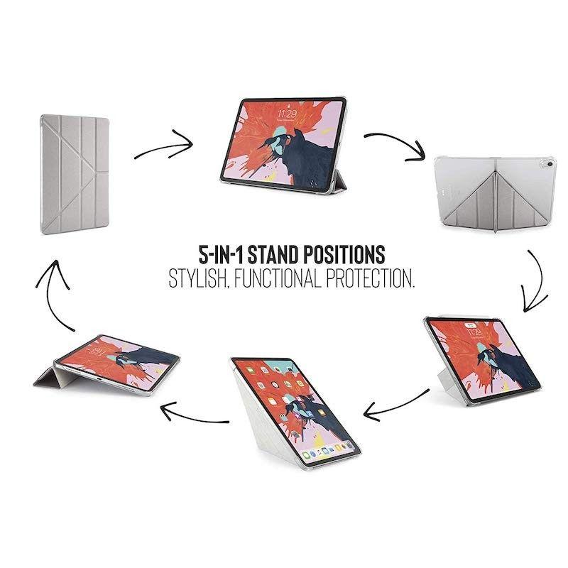 Capa para iPad Pro 11 Pipetto Origami - Rosa Dourado/Transparente