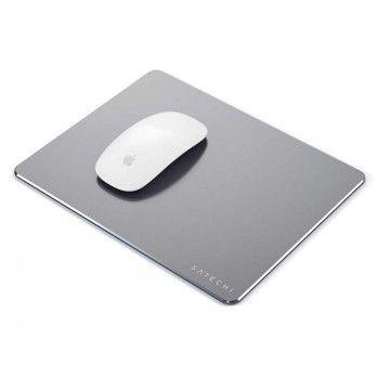 Tapete para rato em aluminio e base aderente - Cinzento Sideral