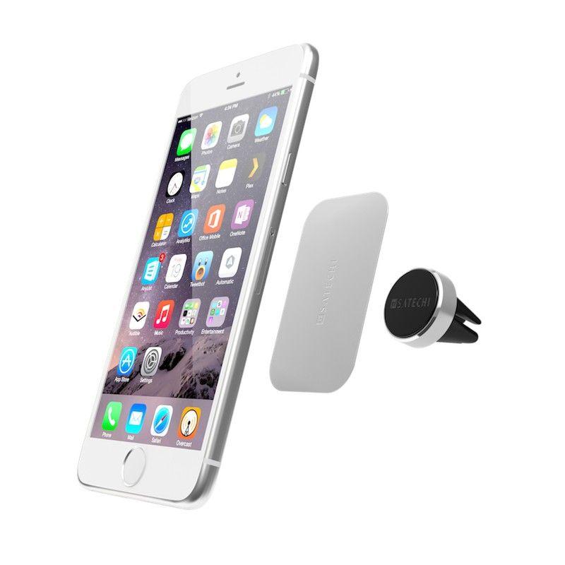 Suporte magnetico para smartphone - Prateado