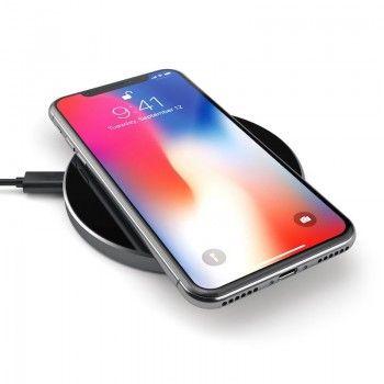 Carregador rápido de iPhone em alumínio, 5W - Preto