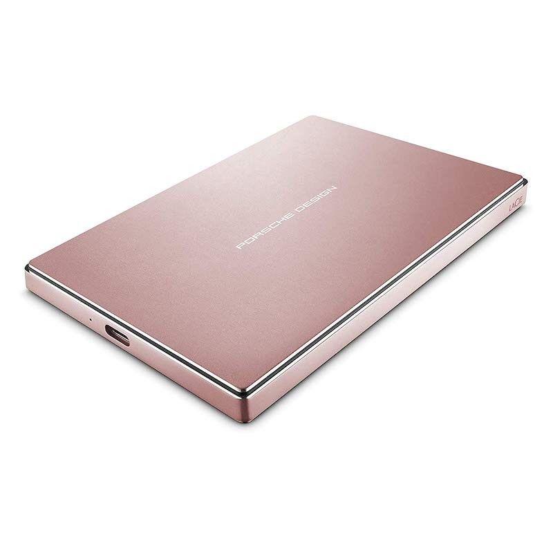 Disco LaCie Porsche Design 2.5 2TB USB 3.1 & USB-C - Rosa dourado