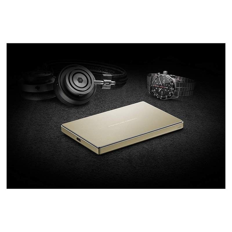 Disco LaCie Porsche Design 2.5 2TB USB 3.1 & USB-C - Dourado