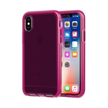 Capa Tech21 Evo Check para iPhone X/XS - Fuchia