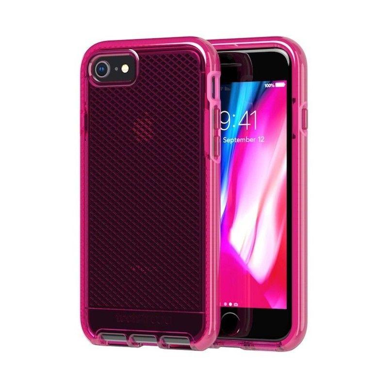 Capa Tech21 Evo Check para iPhone 8 / 7 - Fuchia