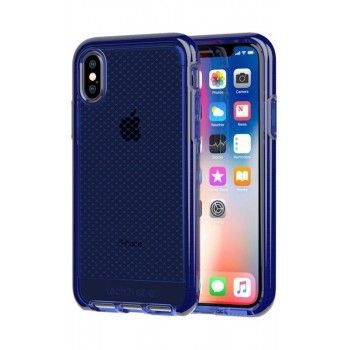 Capa para iPhone X/XS Tech21 Evo Check - Midnight Blue