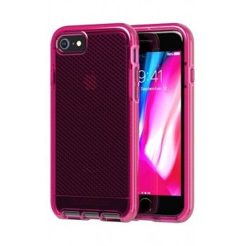 Capa iPhone SE (2020)/8/7 Tech21 Evo Check Fuchsia