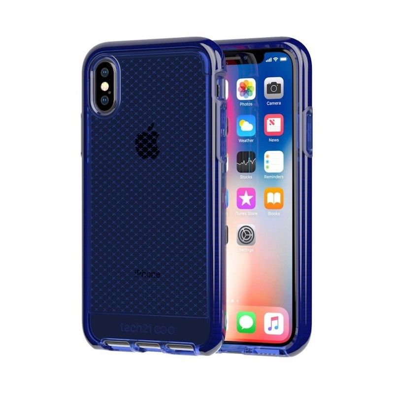 Capa Tech21 Evo Check para iPhone X/XS - Midnight Blue