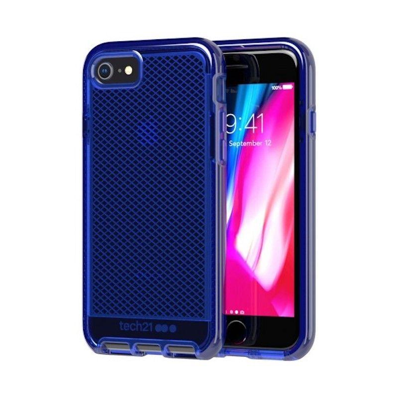 Capa Tech21 Evo Check para iPhone 8 / 7 - Azul meia-noite