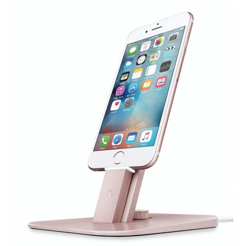 Suporte para iPhone e iPad mini Twelve South HiRise Deluxe - Rosa Dourado