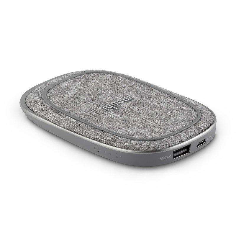 Powerbank com carregador wireless de iPhone.