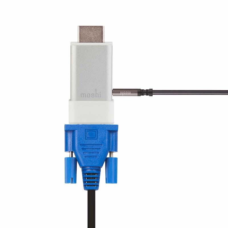 Adaptador HDMI para VGA + Audio