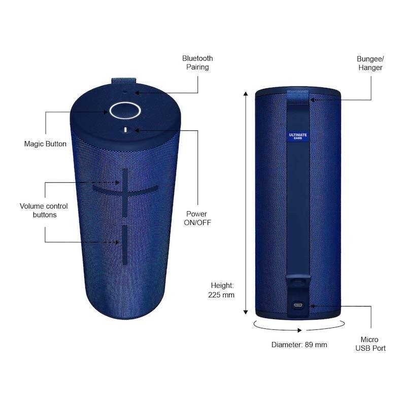Coluna Ultimate Ears Megaboom 3 - Lagoon Blue