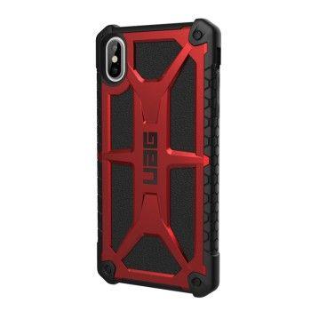 Capa para iPhone XS Max UAG Monarch - Vermelho / Preto