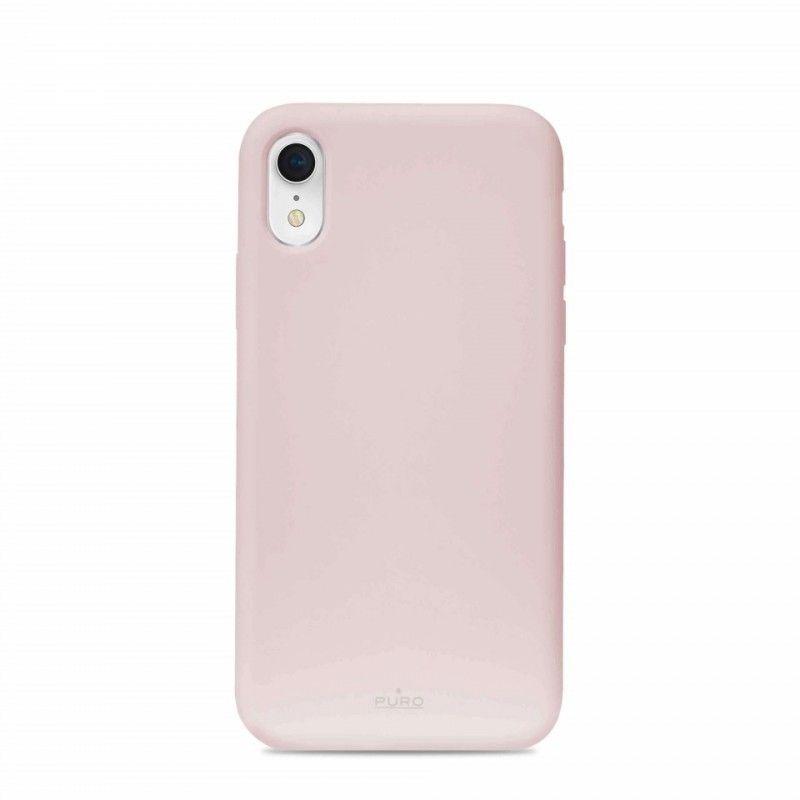 Capa iPhone XR em Silicone da Puro - Rosa