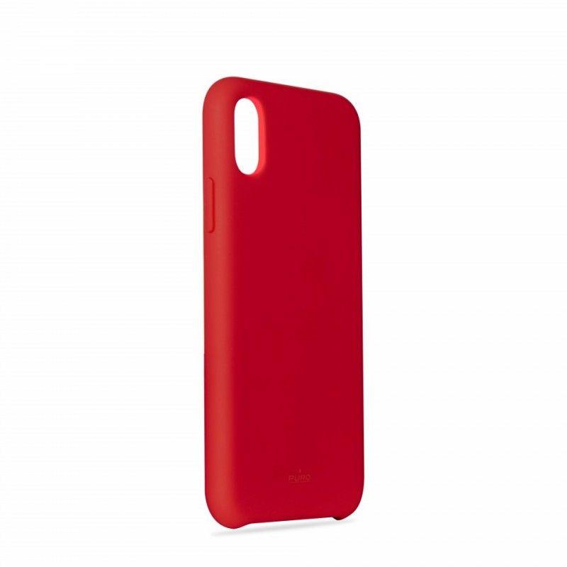 Capa iPhone XS Max em Silicone da Puro - Vermelho