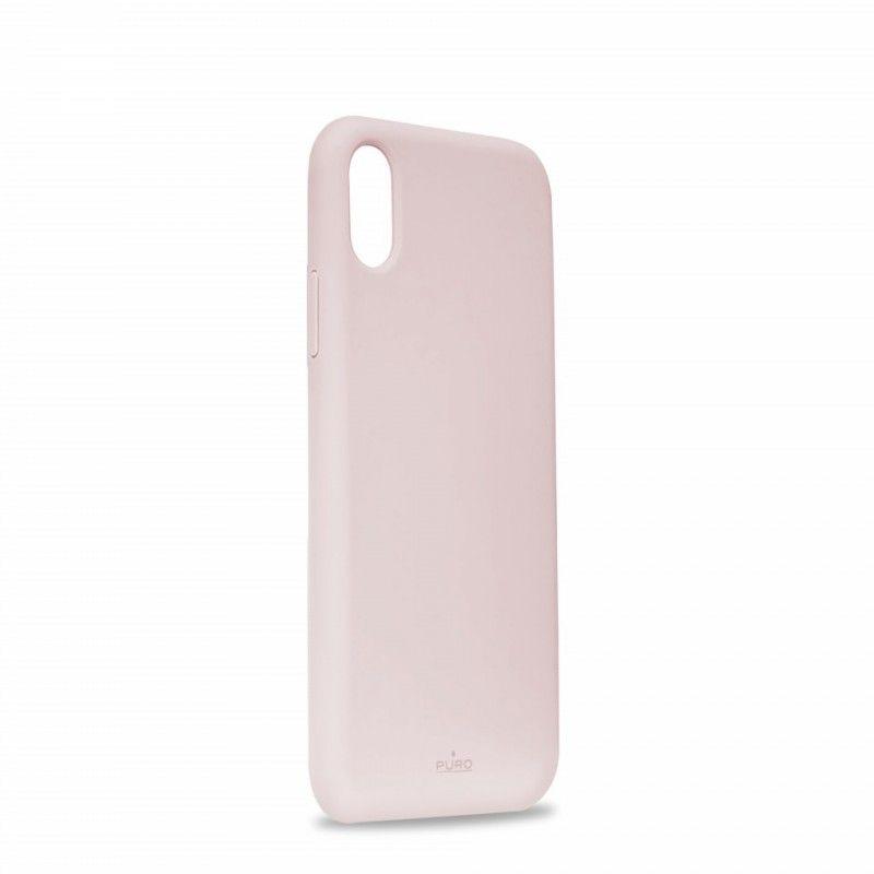 Capa iPhone XS em Silicone da Puro - Rosa