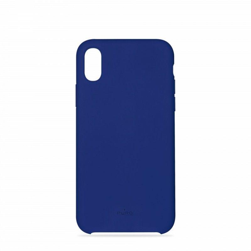 Capa iPhone XS em Silicone da Puro - Azul Escuro