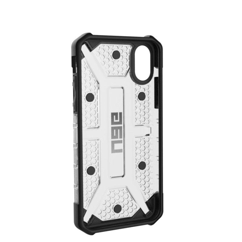 Capa iPhone X/XS UAG Plasma - Gelo / Preto / Prateado