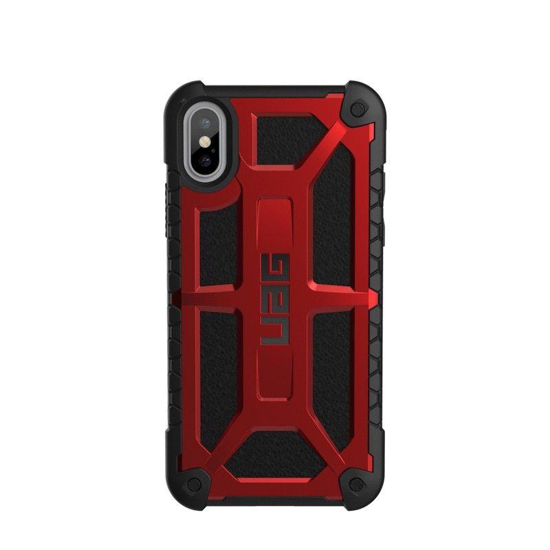 Capa para iPhone X/XS UAG Monarch - Vermelho / Preto