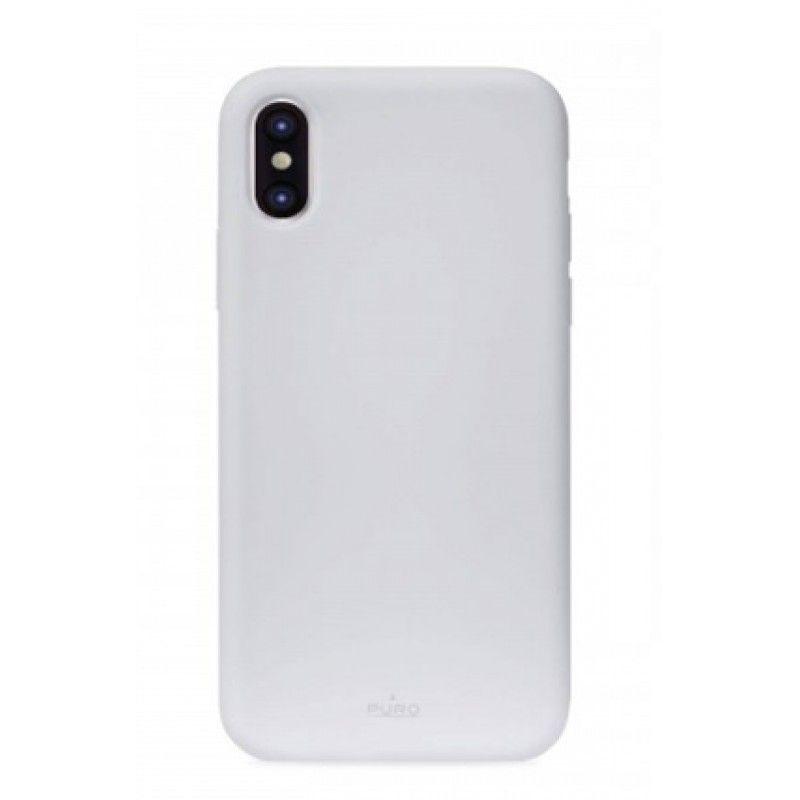 Capa iPhone XS em Silicone da Puro - Azul claro