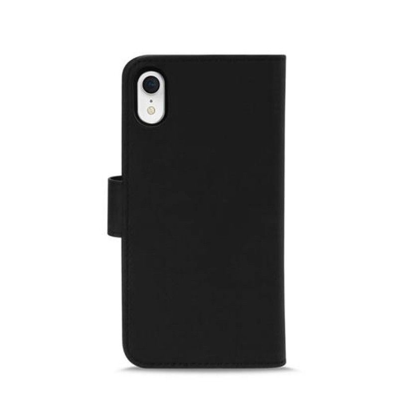 Capa para iPhone XR PuroMagnet Eco-Leather - Preto