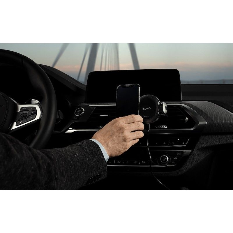 Carregador iPhone Wireless para automóvel - Preto