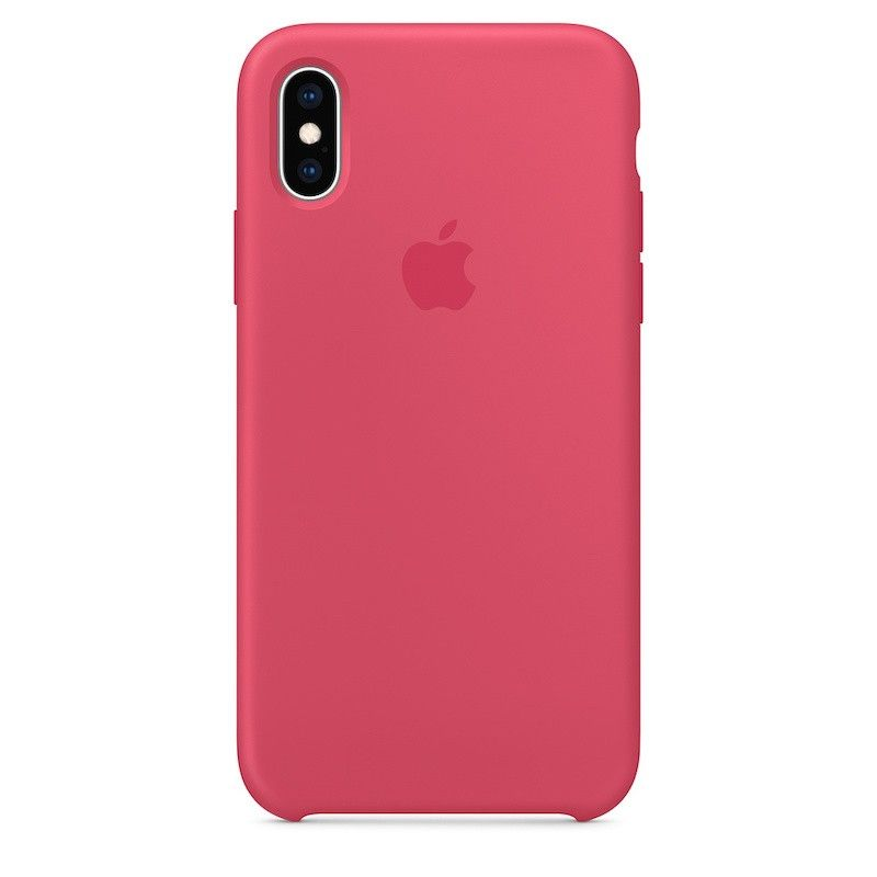 Capa para iPhone XS em silicone - Hibisco