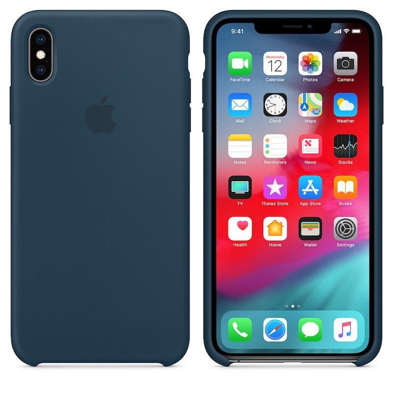 Capa para iPhone XS Max em silicone - Verde Pacífico