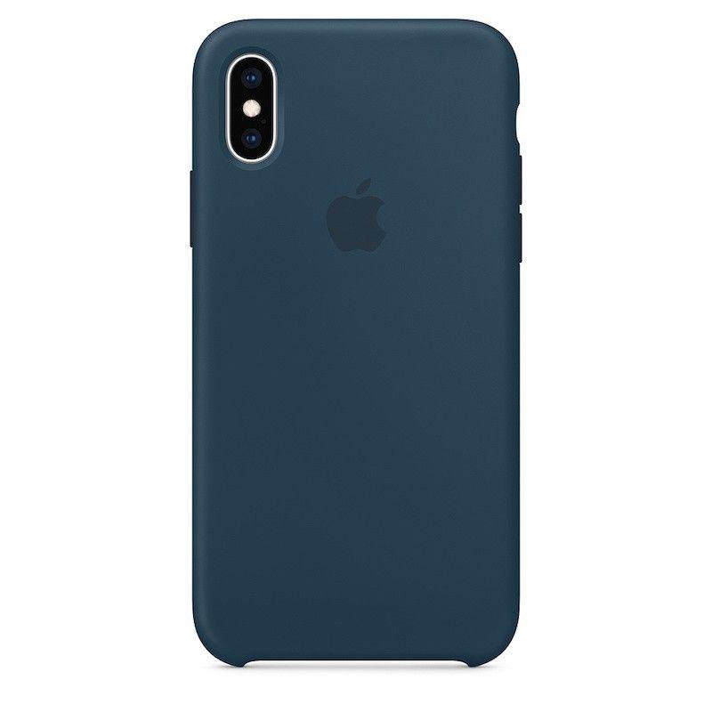 Capa para iPhone XS em silicone - Verde Pacífico