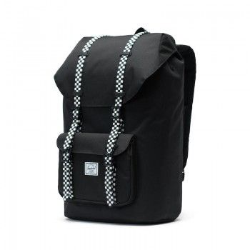 Mochila Herschel Little America (25L) - Black/Checkerboard