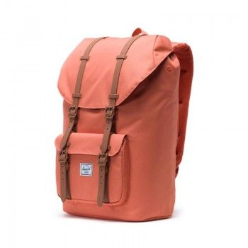 Mochila Herschel Little America (25L) - Apricot Brandy/Saddle Brown