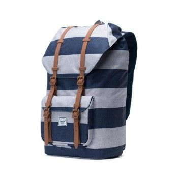 Mochila Herschel Little America (25L) - Border Stripe/Saddle Brown