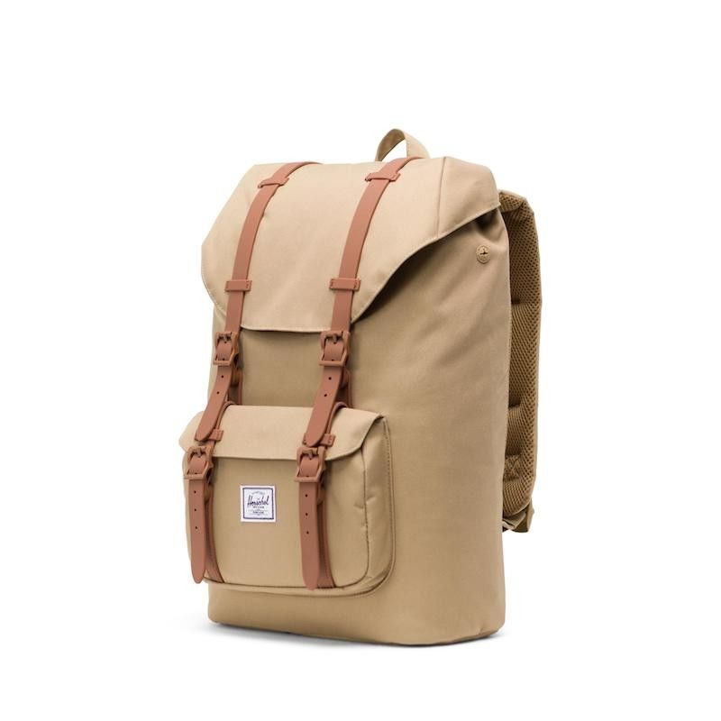 Mochila Herschel Little America Mid Vol. (17L) - Kelp/Saddle Brown