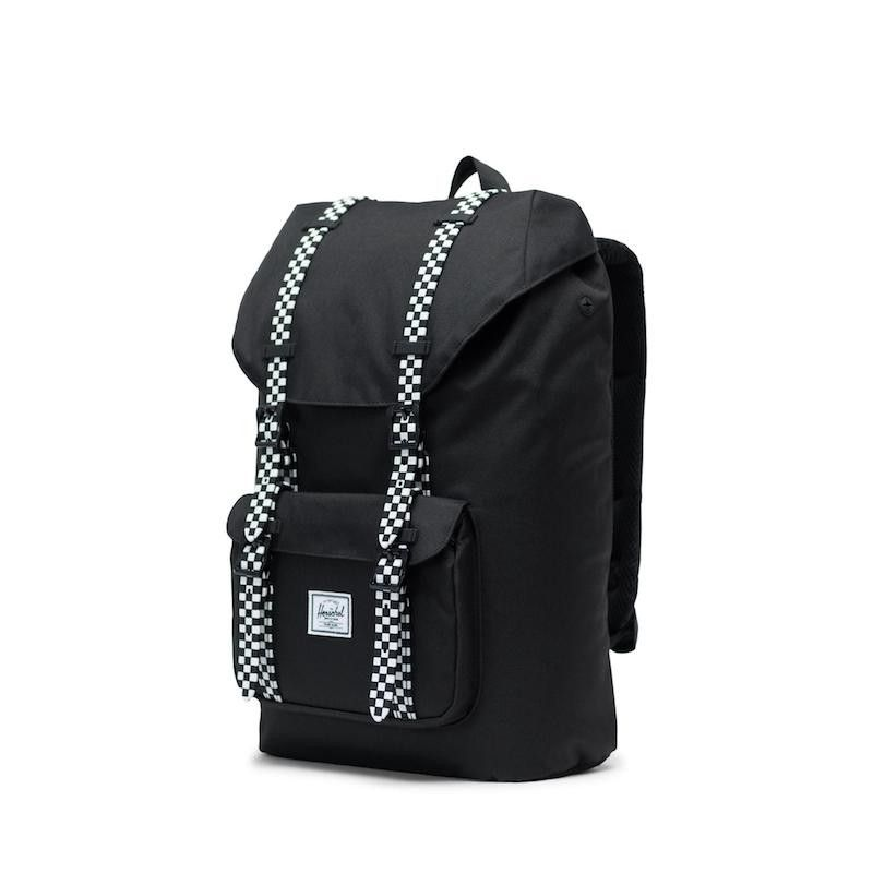 Mochila Herschel Little America Mid Vol. (17L) - Black/Checkerboard