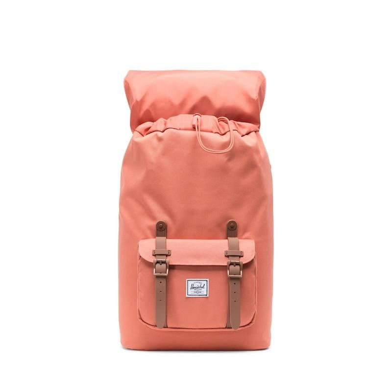 Mochila Herschel Little America Mid Vol. (17L) - Apricot Brandy/Saddle Brown
